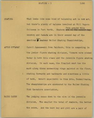 Primary view of object titled '[News Script: Skaters]'.