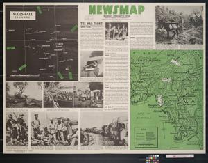 Primary view of object titled 'Newsmap. Monday, February 7, 1944 : week of January 27 to February 3, 230th week of the war, 112th week of U.S. participation'.