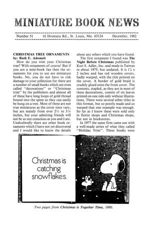 Primary view of object titled 'Miniature Book News # 51: 1982 December'.