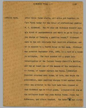 Primary view of object titled '[News Script: Kirkwood trial]'.