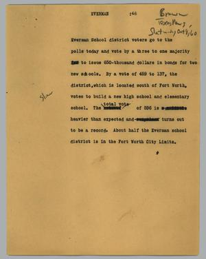 Primary view of object titled '[News Script: Everman]'.
