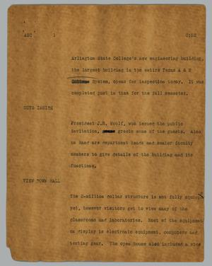 Primary view of object titled '[News Script: ASC]'.