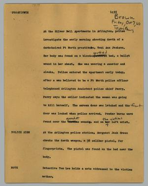 Primary view of object titled '[News Script: Prostitute]'.