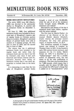 Primary view of object titled 'Miniature Book News # 43: 1980 December'.