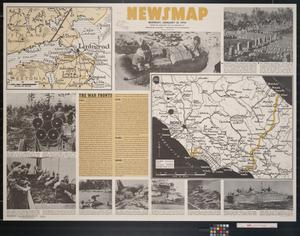 Primary view of object titled 'Newsmap. Monday, January 31, 1944 : week of January 20 to January 27, 229th week of the war, 111th week of U.S. participation'.