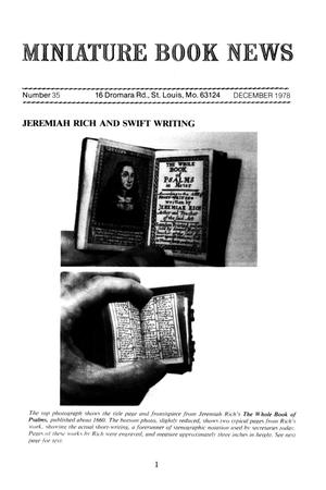 Miniature Book News # 35: 1978 December