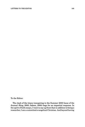 Primary view of object titled 'Letter to the Editor'.