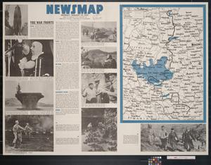 Primary view of object titled 'Newsmap. Monday, January 24, 1944 : week of January 13 to January 20, 228th week of the war, 110th week of U.S. participation'.