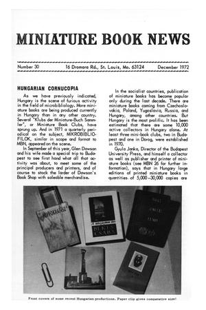 Primary view of object titled 'Miniature Book News # 30: 1972 December'.