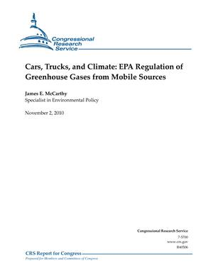 Cars, Trucks, and Climate: EPA Regulation of Greenhouse Gases from Mobile Sources