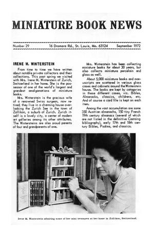 Miniature Book News # 29: 1972 September