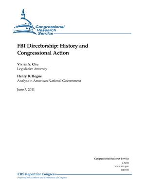 FBI Directorship: History and Congressional Action