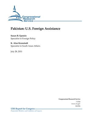 Pakistan: U.S. Foreign Assistance