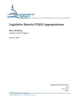 Legislative Branch: FY2012 Appropriations