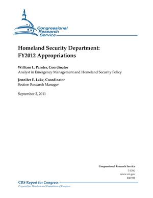 Homeland Security Department: FY2012 Appropriations