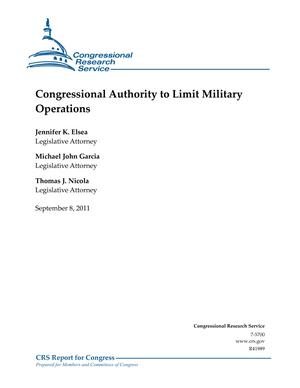 Congressional Authority to Limit Military Operations