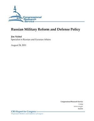 Russian Military Reform and Defense Policy