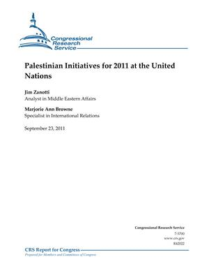 Palestinian Initiatives for 2011 at the United Nations