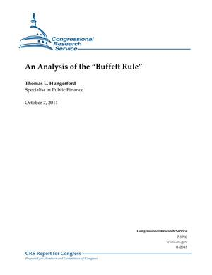 "An Analysis of the ""Buffett Rule"""