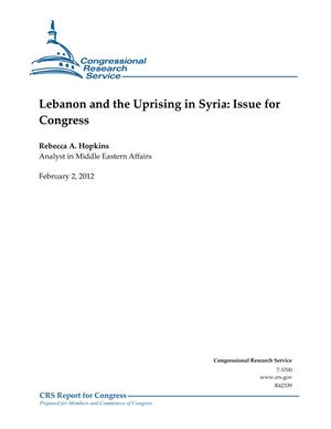 Lebanon and the Uprising in Syria: Issue for Congress