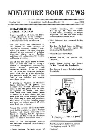 Primary view of object titled 'Miniature Book News #105: 2000 June'.