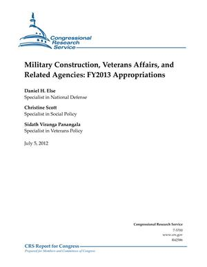 Military Construction, Veterans Affairs, and Related Agencies: FY2013 Appropriations