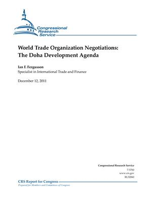 World Trade Organization Negotiations: The Doha Development Agenda