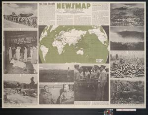 Primary view of object titled 'Newsmap. Monday, January 17, 1944 : week of January 6 to January 13, 227th week of the war, 109th week of U.S. participation'.