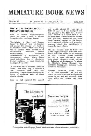 Primary view of object titled 'Miniature Book News # 97: 1998 June'.