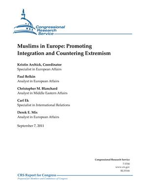 Muslims in Europe: Promoting Integration and Countering Extremism