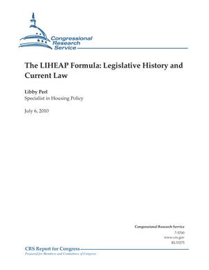 The LIHEAP Formula: Legislative History and Current Law