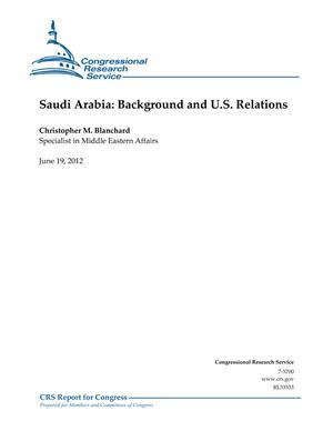 Saudi Arabia: Background and U.S. Relations