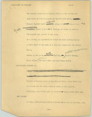 "Primary view of object titled '[News Script: ""Lost mine"" is examined]'."