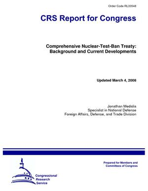 Comprehensive Nuclear-Test-Ban Treaty: Background and Current Developments