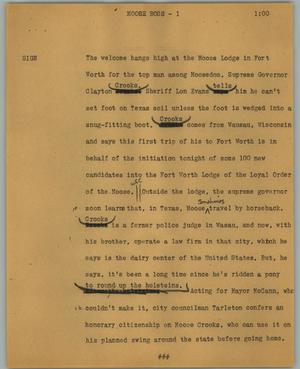 Primary view of object titled '[News Script: Moose boss]'.