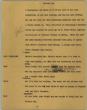 Primary view of object titled '[News Script: Office]'.