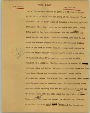 Primary view of object titled '[News Script: Geary]'.