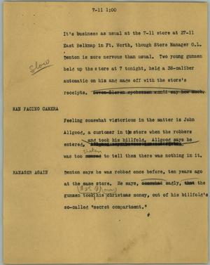 Primary view of object titled '[News Script: 7-11]'.
