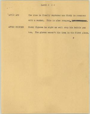 Primary view of object titled '[News Script: March]'.