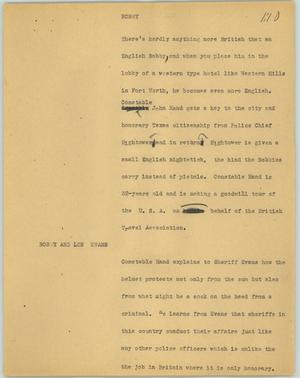 Primary view of object titled '[News Script: Bobby]'.