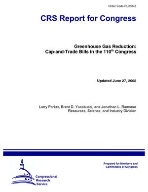 Greenhouse Gas Reduction: Cap-and-Trade Bills in the 110th Congress