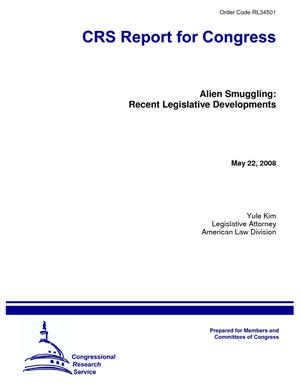 Alien Smuggling: Recent Legislative Developments