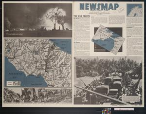 Primary view of object titled 'Newsmap. Monday, January 3, 1944 : week of December 22 to December 29, 1943, 225th week of the war, 107th week of U.S. participation'.
