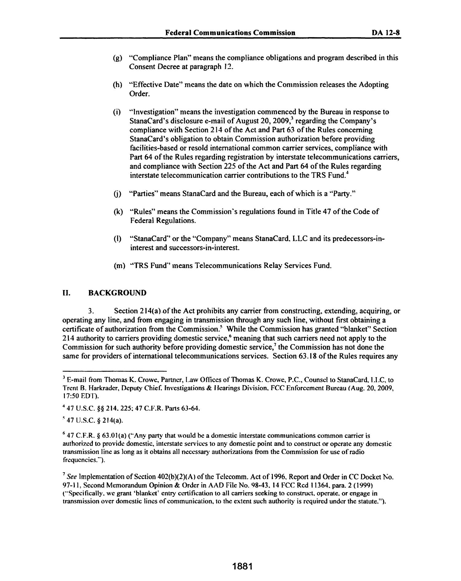 FCC Record, Volume 27, No. 3, Pages 1878 to 2785, February 21 - March 16, 2012                                                                                                      1881