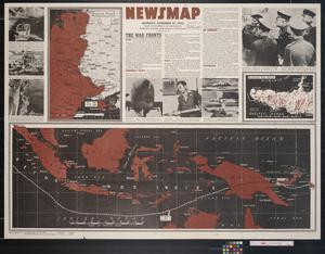 Primary view of object titled 'Newsmap. Monday, December 27, 1943 : week of December 16 to December 22, 224th week of the war, 106th week of U.S. participation'.