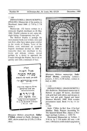 Miniature Book News # 59: 1988 December - Digital Library
