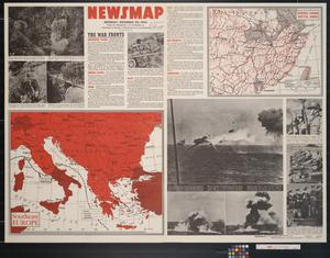 Primary view of object titled 'Newsmap. Monday, December 20, 1943 : week of December 9 to December 16, 223rd week of the war, 105th week of U.S. participation'.