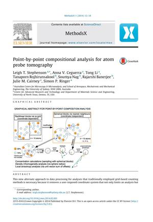 Primary view of object titled 'Point-by-point compositional analysis for atom probe tomography'.
