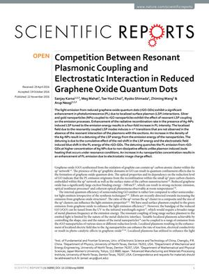 Competition Between Resonant Plasmonic Coupling and Electrostatic Interaction in Reduced Graphene Oxide Quantum Dots