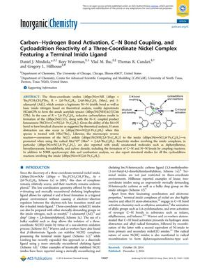 Carbon-Hydrogen Bond Activation, C-N Bond Coupling, and Cycloaddition Reactivity of a Three-Coordinate Nickel Complex Featuring a Terminal Imido Ligand